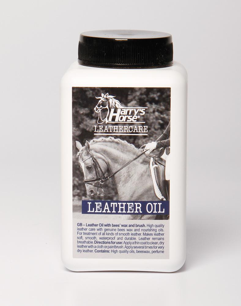 Harry's Horse Lederolie/bijenwas met kwast (500 ml.)