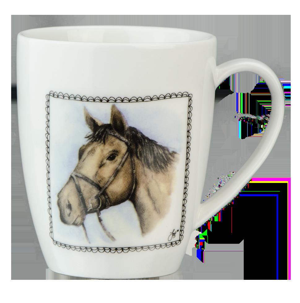 Hofman Boerenwinkel Koffiemok Paard