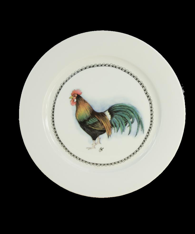 Hofman Boerenwinkel Ontbijtbord 21cm Haan