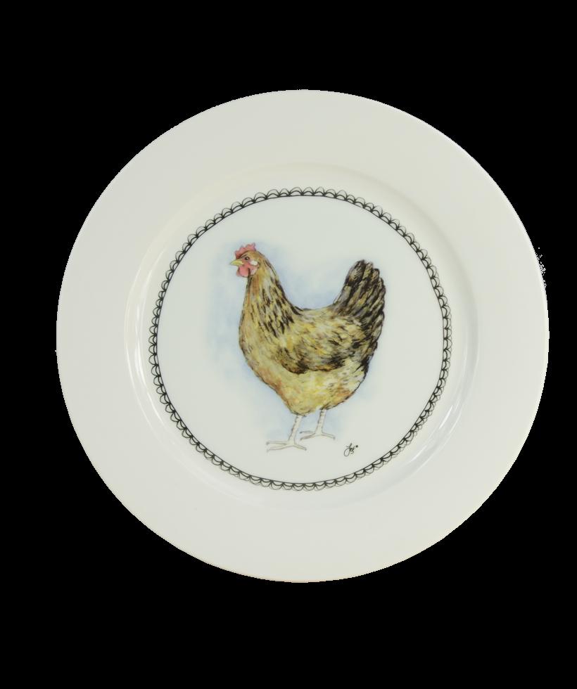 Hofman Boerenwinkel Ontbijtbord 21cm Hen