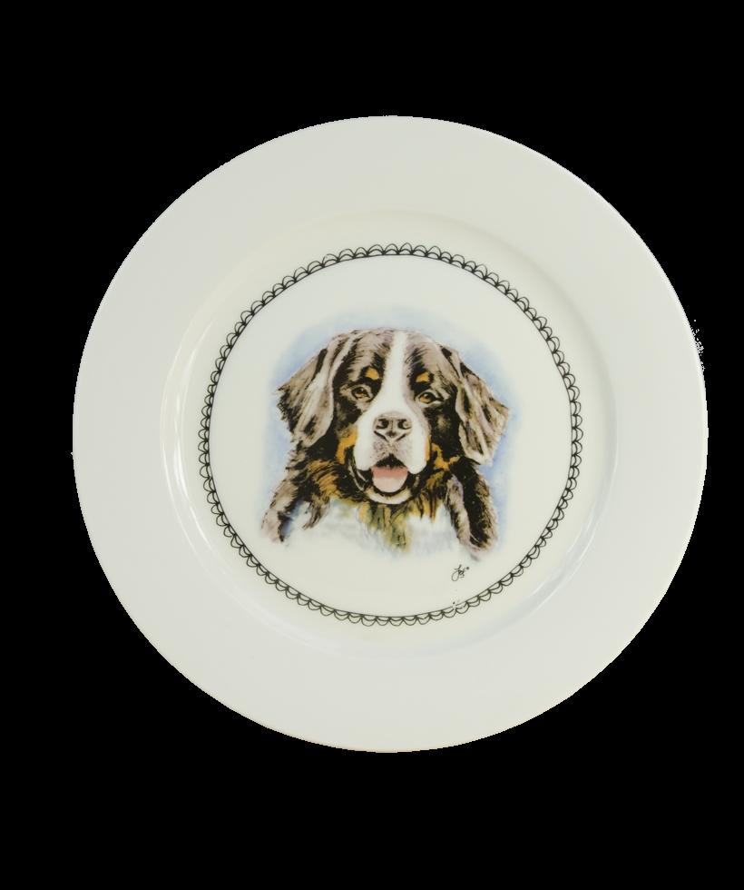 Hofman Boerenwinkel Ontbijtbord 21cm Hond