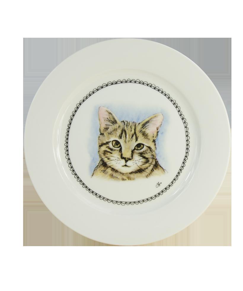 Hofman Boerenwinkel Ontbijtbord 21cm Kat
