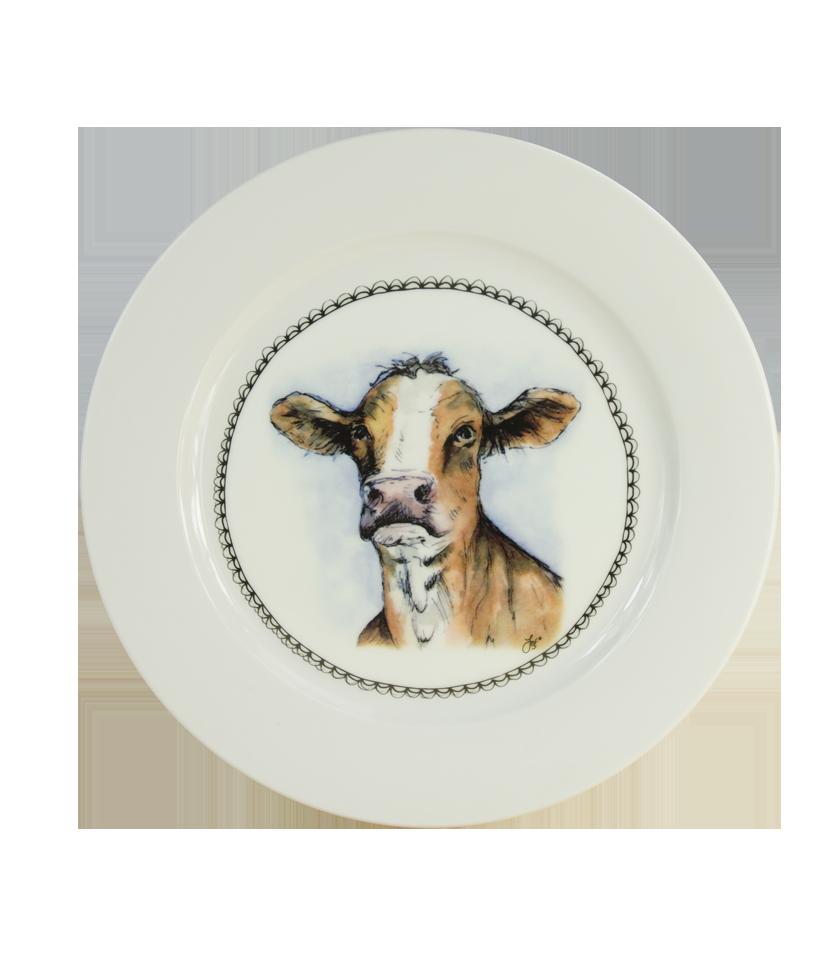Hofman Boerenwinkel Ontbijtbord 21cm Koe