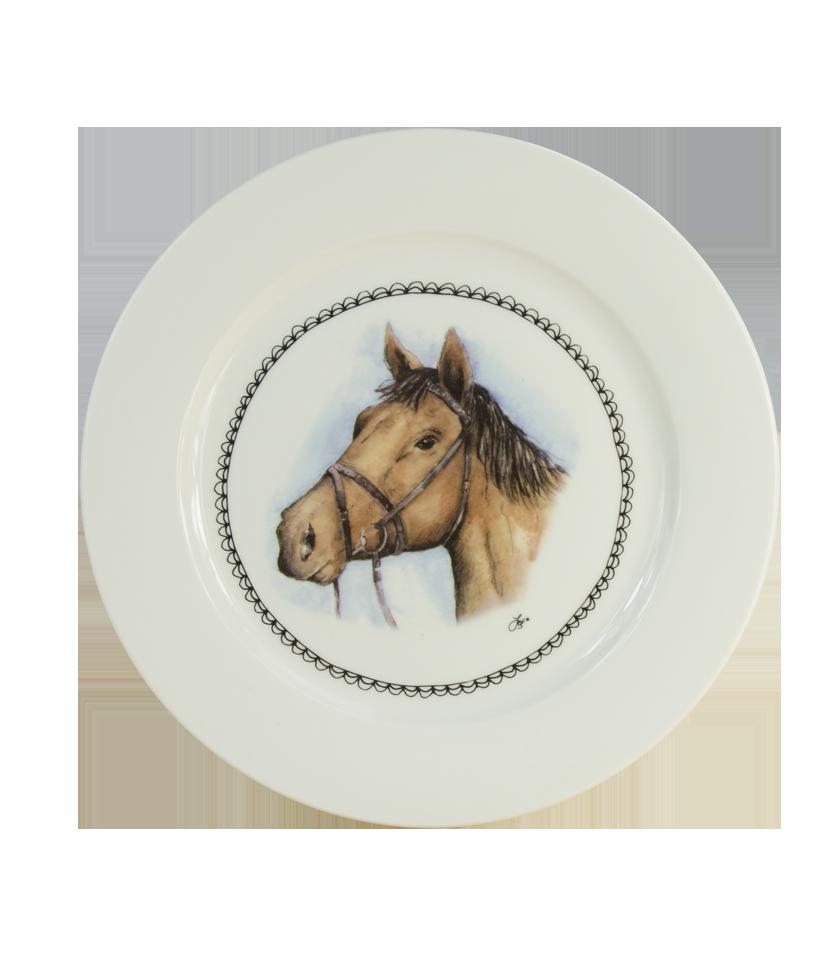 Hofman Boerenwinkel Ontbijtbord 21cm Paard