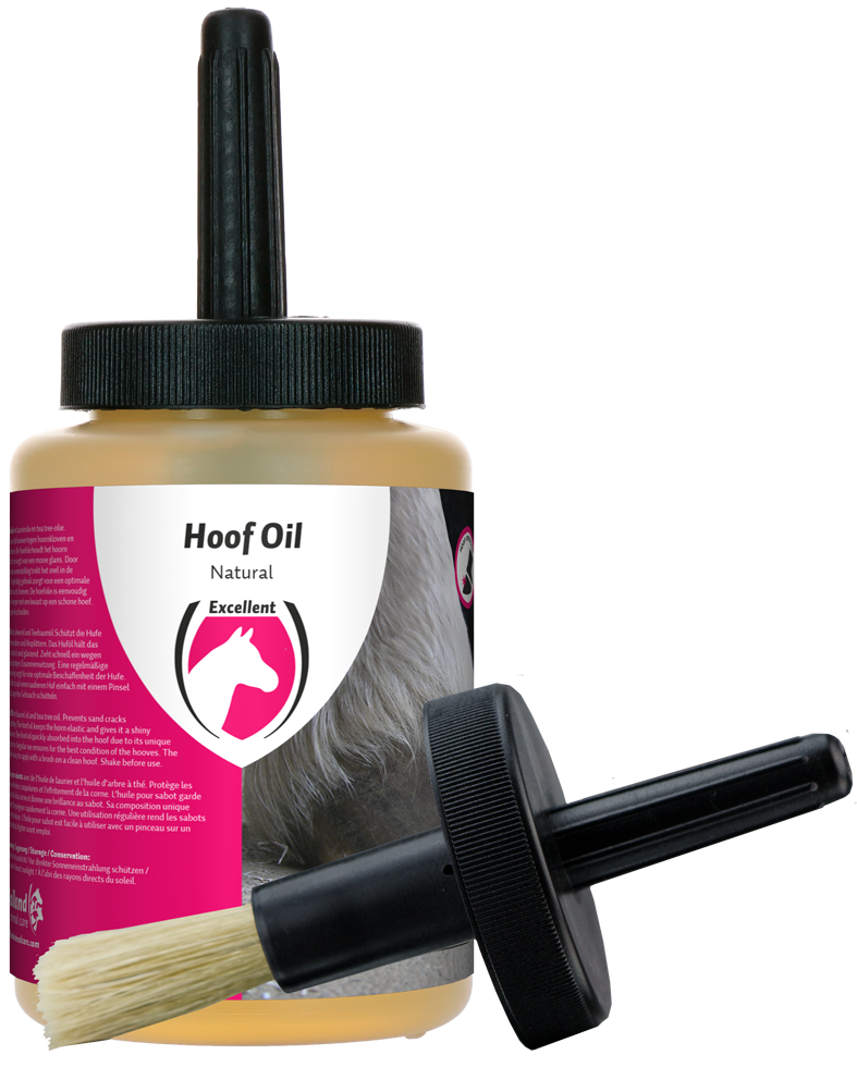 Excellent Hoof Oil Natural (met borstel)