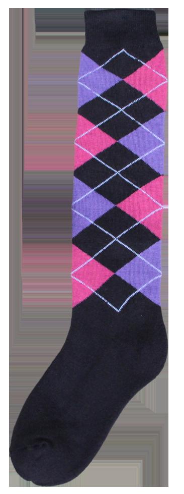 Excellent Kniekous RE d.grijs/roze/paars 43-46