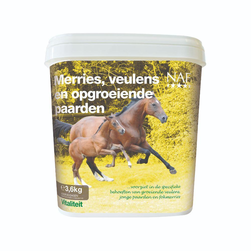 NAF Merries, veulens en opgroeiende paarden