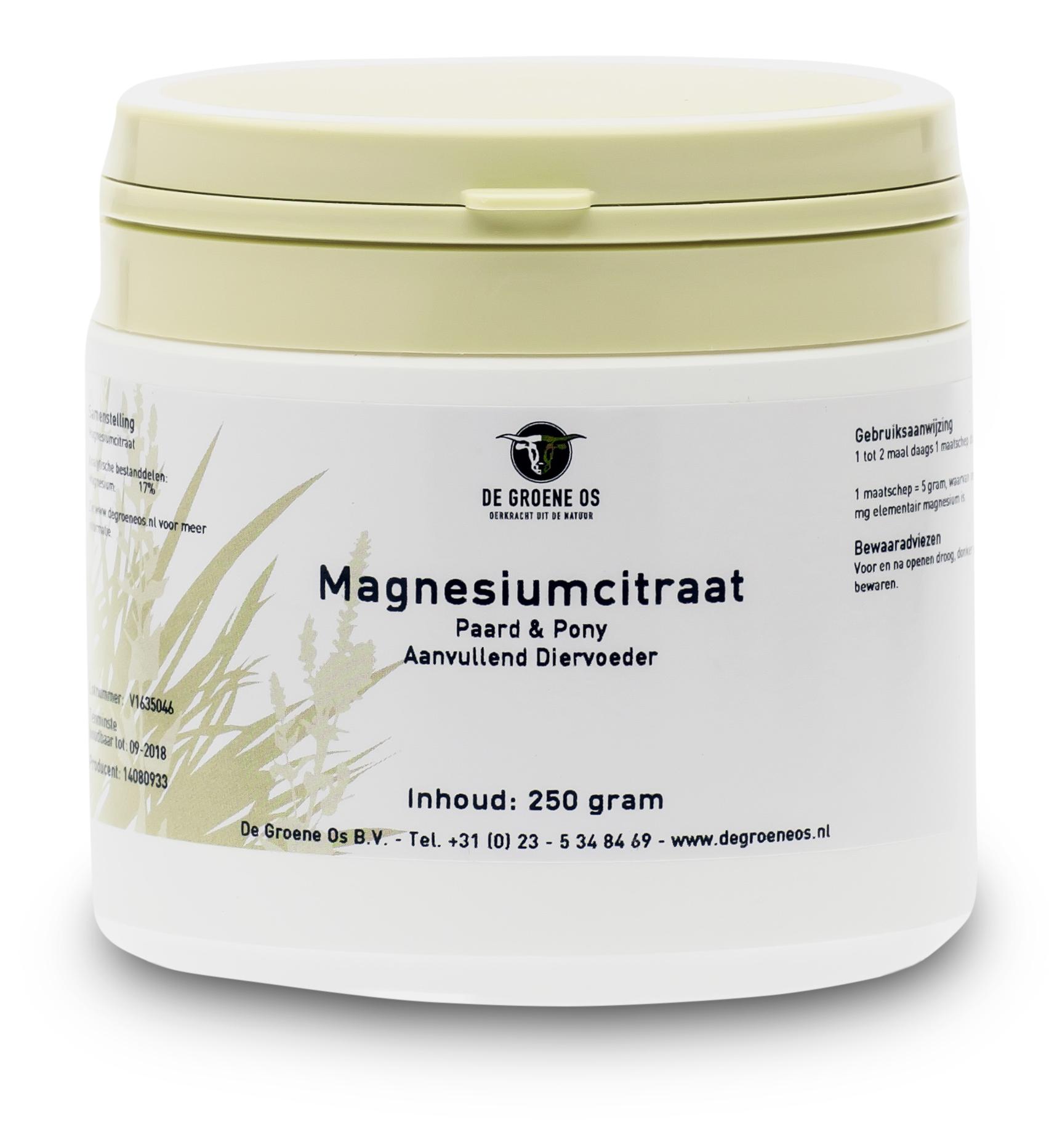 Groene Os Magnesiumcitraat - Paard/Pony - 250 g
