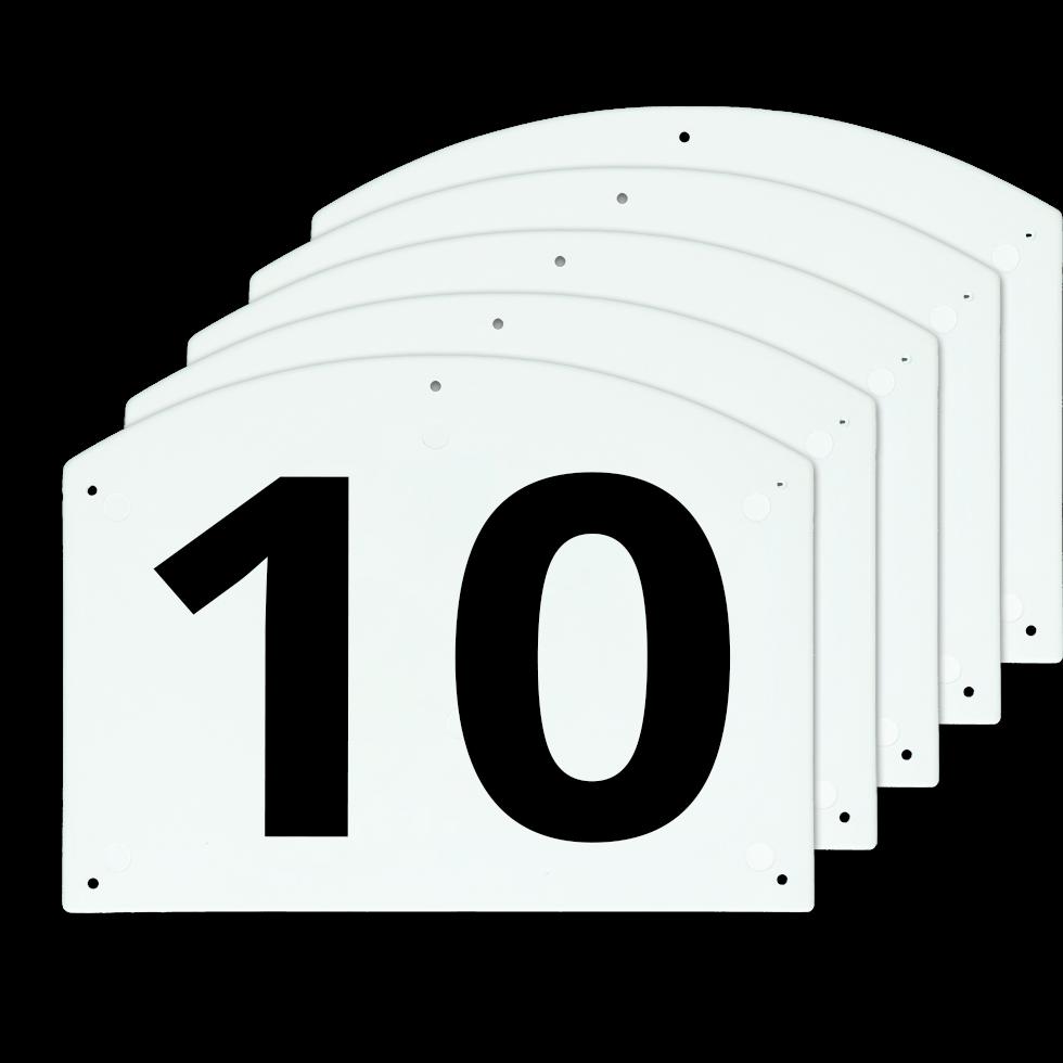 Vplast Show Jump cijfers 10 T/M 15
