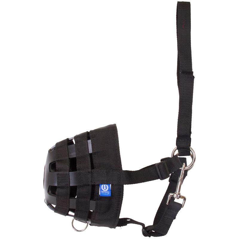 Imperial Riding Grasmasker met plaat Zwart