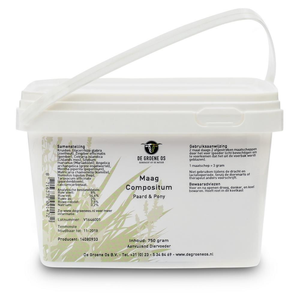 Groene Os Maag Compositum - Paard/Pony - 750 g
