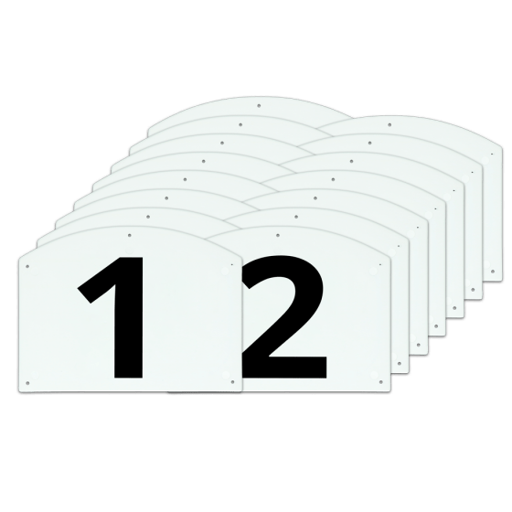 Vplast Show Jump cijfers en letters set compleet