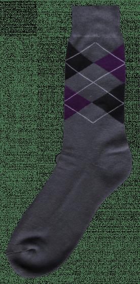 Excellent Ruitersok grijs/zwart/paars