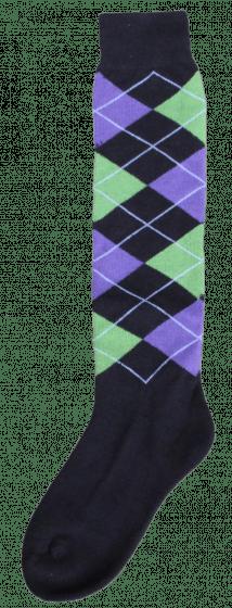 Excellent Kniekous RE zwart/l.groen/paars   43-46