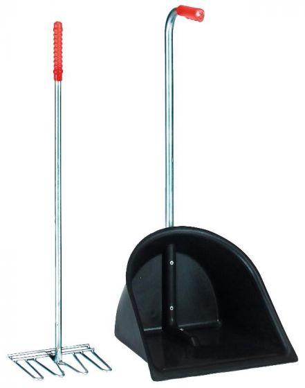 Hofman Mest opraapbak + hark 75cm