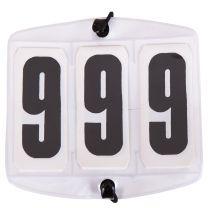 Startnummers wit