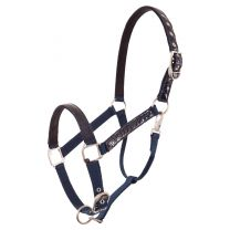 BR halster Croco Lacquer Pony Blauw