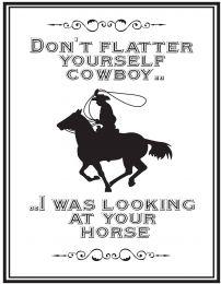 QHP Tekstbord 'Cowboy'