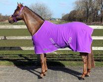QHP  Deken fleece color met singels Passion Flower 215