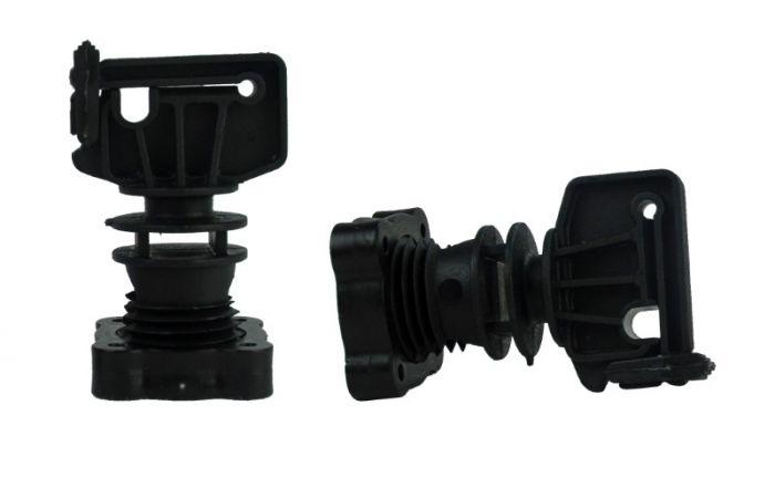 Hofman Isolator schroefklem voor ronde paal ø 16mm, lint tot 30 mm