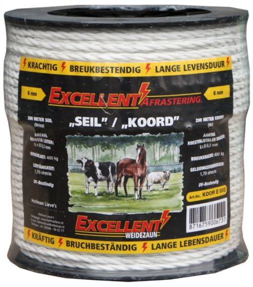 Hofman Koord Excellent Eco 200 m / 6 mm zwart