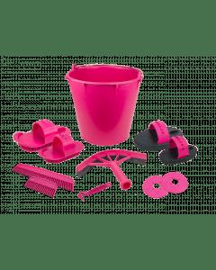 Vplast Poetsset van 10 items in emmer marineblauw
