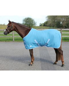 QHP Deken fleece color met singels