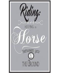 QHP Tekstbord 'Riding...'