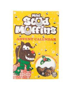 Stud muffins 24x12gr.Mini Muffins advent kalender