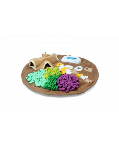Hofman AFP Dig it - Round Fluffy mat with cute toy