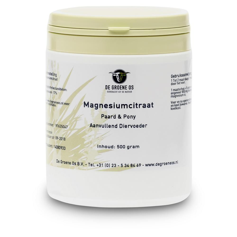 Groene Os Magnesiumcitraat - Paard/Pony - 500 g